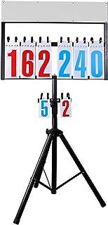 BESPORTBLE Tabellone Segnapunti in Plastica Tabellone Segnapunti da Biliardo per Snooker Basket Tennis Sport Baseball Registratore Accessori Nero