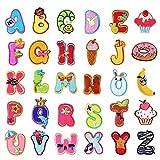 26 parches con letras del alfabeto A-Z para planchar o coser en la ropa,...