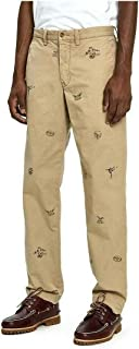 Men's Classic Fit Embroidered Collegiate Crest Pants