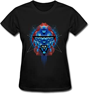 JSFAd Women's Fierce Wolf Design Animal T-Shirt