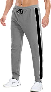 FASKUNOIE Men's Sweatpants Close Bottom Elastic Workout Running Joggers with Pockets