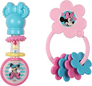 Disney Minnie Mouse Combo Pack Barbell Rattle & Keyring Teether, Minnie