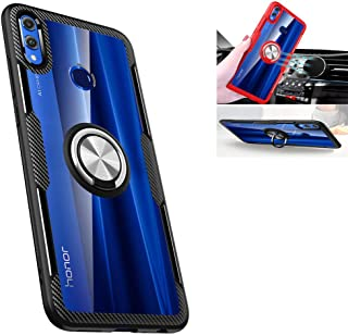 Huawei Honor 8X Case,360° Rotating Ring Kickstand Protective Case,TPU+PC Shock Absorption Double Protection Cover Compatible with [Magnetic Car Mount] for Huawei Honor 8X Case Black/silver 1