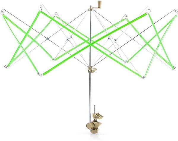 Dalkeyie 针织雨伞雨燕羊毛纱串绕线器架 Hanks Skeins Line 纱架伞撑架工具绿色