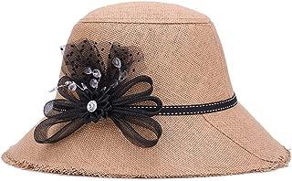 ZiWen Lu Hat Female Summer Linen Grass Korean Tassel Visor Casual Sunscreen Straw hat (Color : Brown, Size : 58cm)