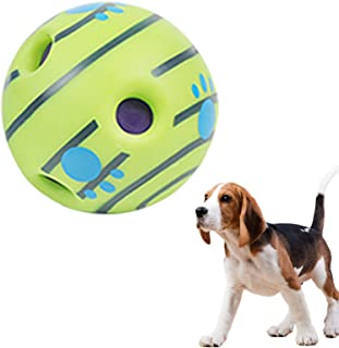 shihui Dog Giggle Ball Toy Interactive Dog Favorite Toys Upgraded Wobble Wag Woopy Ball Make Noise Fun Giggly Sounds Play ...