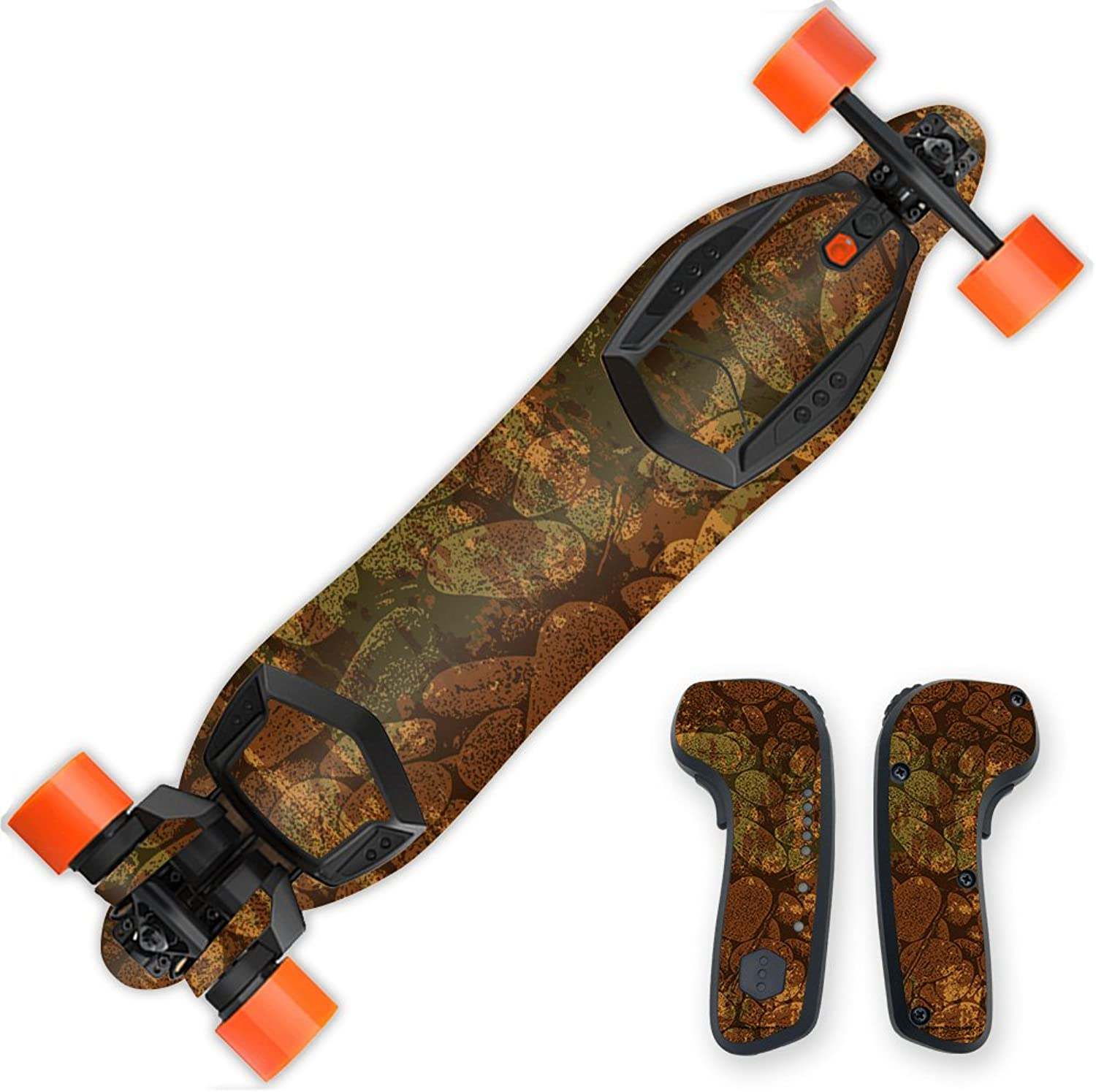 MightySkins Skin Compatible with Boosted Board 2nd Generation  River Stones   Predective, Durable, and Unique Vinyl Decal wrap Cover   Easy to Apply, Remove, and Change Styles   Made in The USA