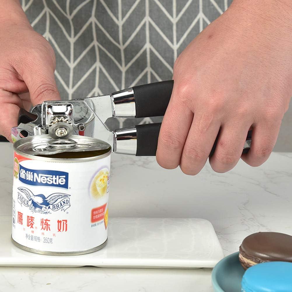 3-In-1 Dosenöffner Deckelöffner Multifunktion Shandbuch Bierflasche Remover Cutter Küche Gadget-Tools,Schwarz Black