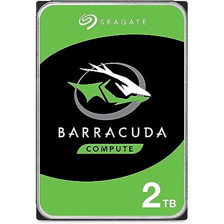 "Seagate Technology BarraCuda, 2 TB, Disco duro interno, HDD, 3,5"", SATA 6 GB/s, 7200 RPM, caché de 64 MB para ordenador de sobremesa y PC, Paquete Abre-fácil (ST2000DMZ08), plateado"
