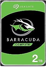 """Seagate BarraCuda, 2 TB, Hard Disk Interno, SATA da 6 GBit/s, 3,5"""", 7.200 RPM, Cache da 64 MB per PC Desktop, Pacchetto di Facile Apertura (ST2000DMZ08)"""