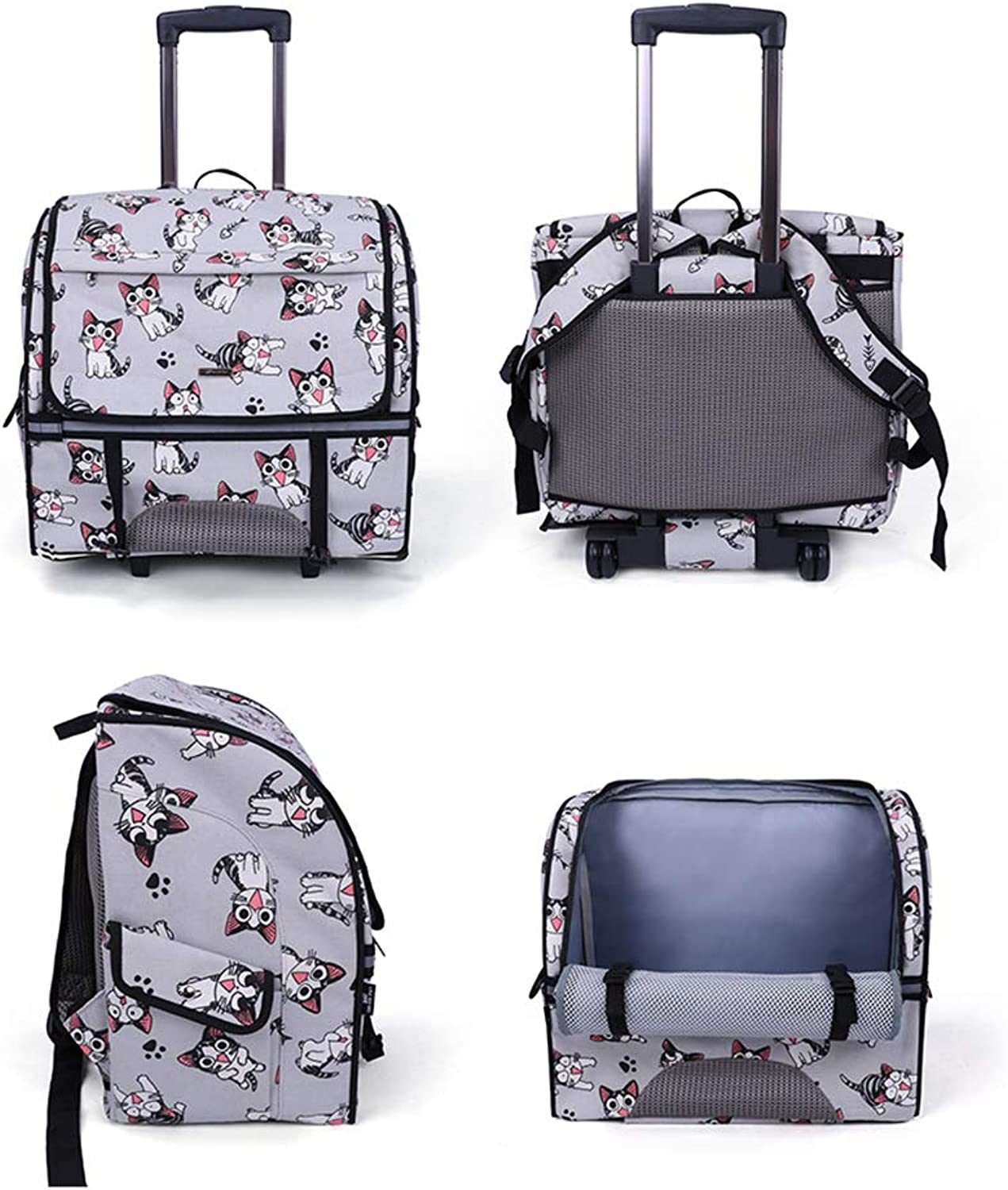 Brtjt Pet Carrier Pet Carrier Dog Pet Carrier Cat HighEnd Pet Trolley Case, Pet Backpack, MultiFunctional Outing Backpack, Pet Backpack, Trolley Case, Cat and Dog Universal,Cat