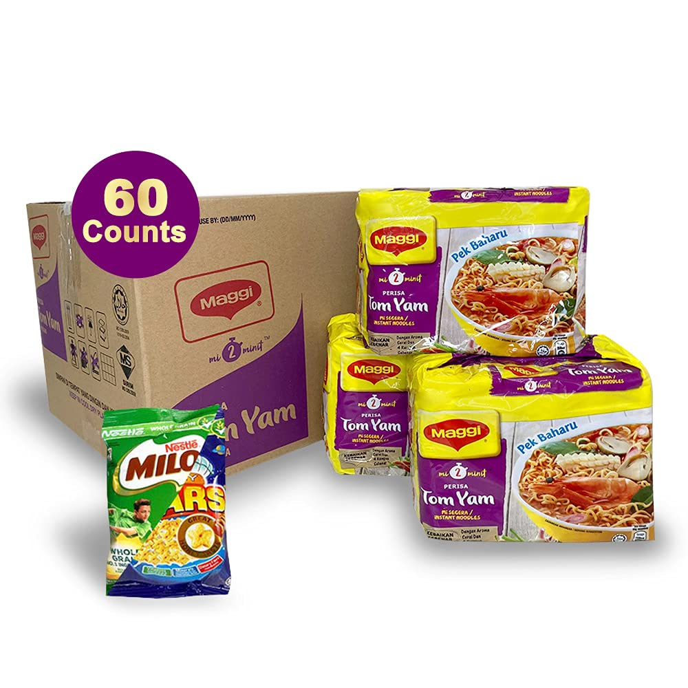 Maggie 67% OFF of fixed price 60-Pack TOM YUM Spicy Sour N New mail order Instant and Noodles 1-Pack