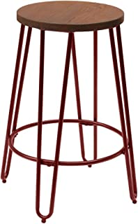 ACEssentials Quinn Counter Stool in Matte Red Finish