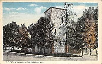 St Peter's Church Monticello, New York, Postcard