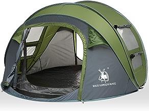 HUI LINGYANG 4 Person Easy Pop Up Tent-Automatic Setup...