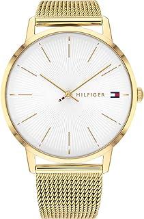ساعة كوارتز بنظام عرض انالوج وسوار من الستانلس ستيل للنساء من تومي هيلفجر - 1782245