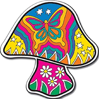 DAN Morris, Celestial Butterfly Mushroom - Original Artwork, Enamel Lapel PIN, 1.25
