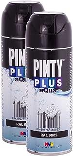 Spray Paint for Arts & Crafts, Water Based PintyPlus Aqua - Jet Black, Pack of 2