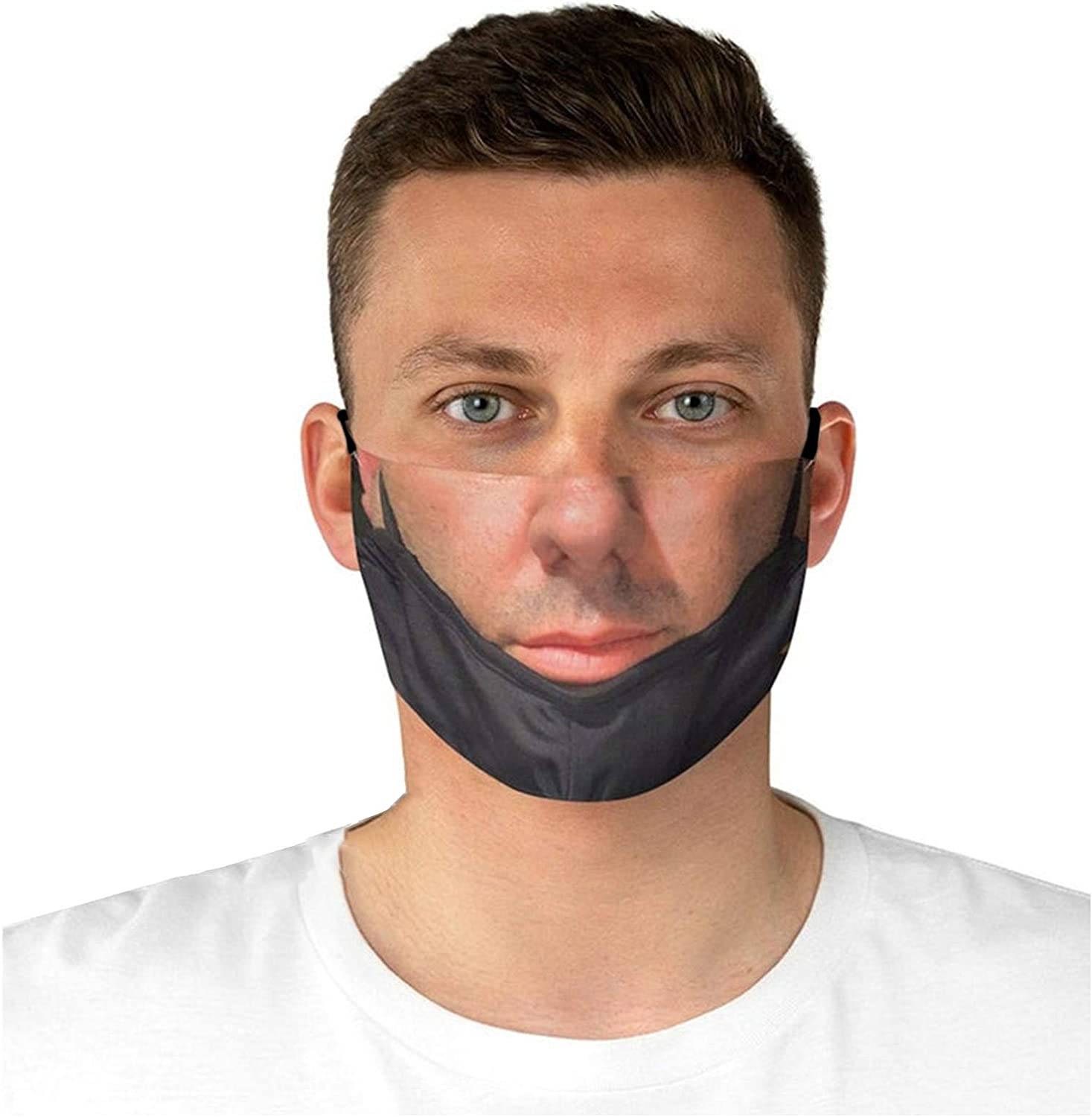 Directly managed store Funny Face_Mask San Jose Mall Washable for Women Printed Breathable Men Cl 3D