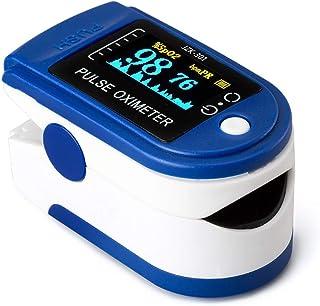 Riserva Oxímetro de Pulso,Medidor Digital de Oxígeno en Sangre y Sensor de Pulso con Alarma SPO2 para el Hogar, Fitness y Deportes Extremos Niño Adulto