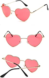 Sunglasses Fashion Accessories Heart Sunglasses Thin Metal Frame Lovely Aviator Style for Women (Color : Purple)