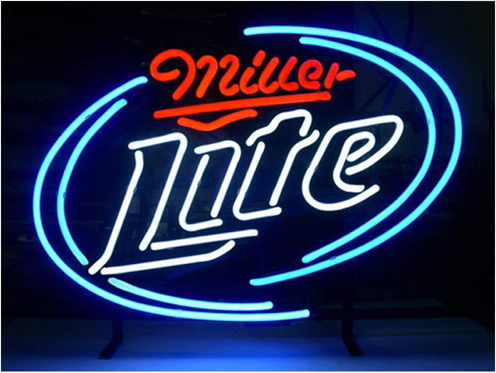 LDGJ Miller Lite Neon Signs Light Recreat Bar Pub Home Beer Sign Limited price Jacksonville Mall