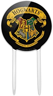 GRAPHICS & MORE Acrylic Harry Potter Ilustrated Hogwart's Crest Cake Topper Party Decoration for Wedding Anniversary Birthday Graduation
