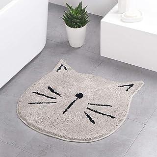 Best Cute Doormat for Kids - Microfiber Absorbent Bathroom Mats - Front Door Mat Carpet Floor Rug, Cat Shape Review