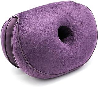 Nunubee Almohada Multifuncional De Felpa Hermosa para Nalgas Almohada Semi-Plegable Multifuncional Almohada Púrpura