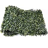 Artificial Hedges Panels, Faux Plant Ivy Fence Wall Cover, Outdoor Privacy Fence Screening Garden Decoration