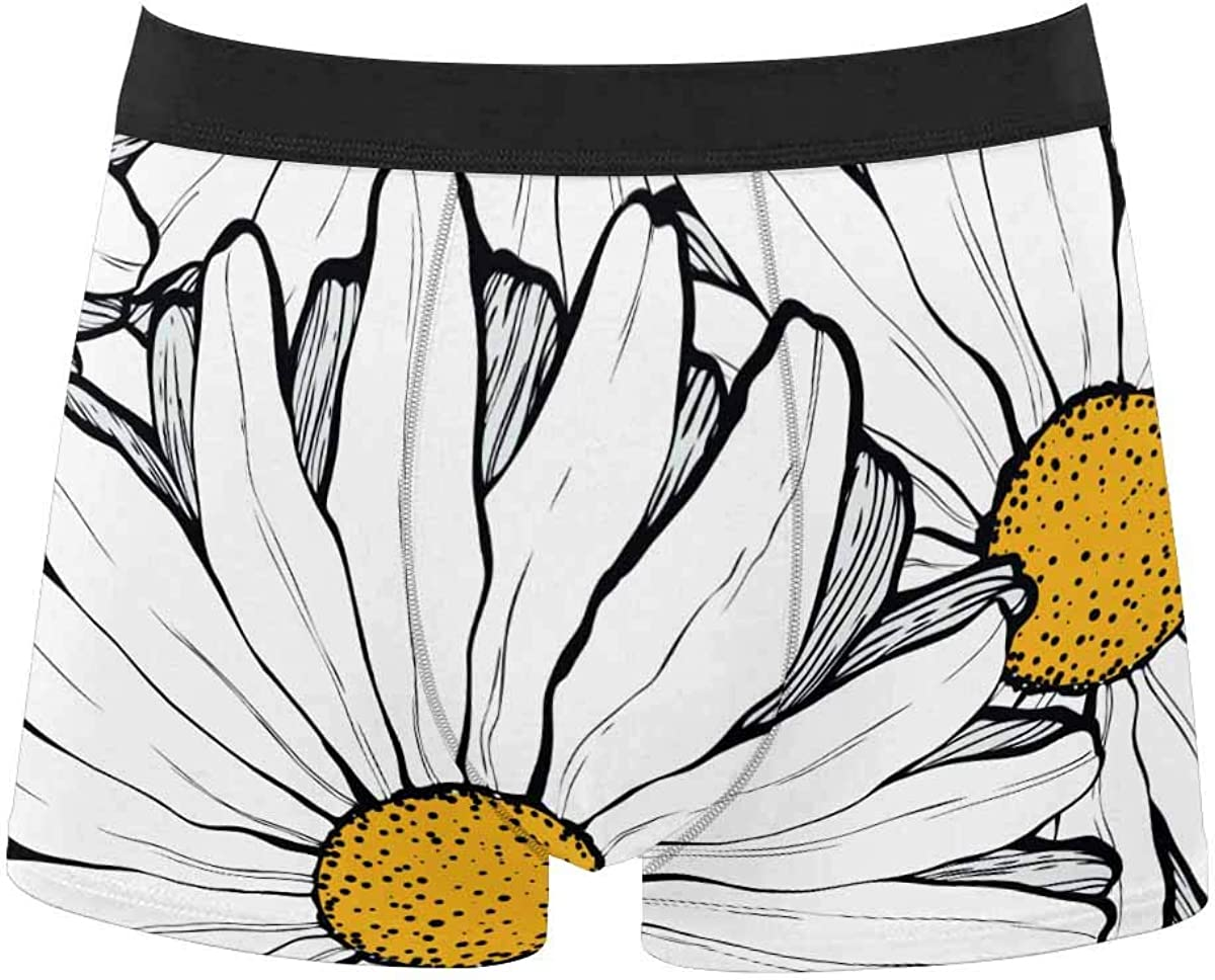 InterestPrint Men's Classic Fit Boxer Briefs Underwear Breathable Underwear Beautiful Colorful Flowers