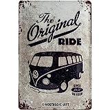 Nostalgic-Art VW Bulli The Original Ride Placa Decorativa, Metal, Gris...