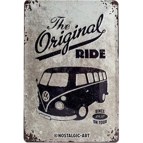 Nostalgic-Art 22188 Volkswagen - VW Bulli - The Original Ride, metalen bord 20x30 cm