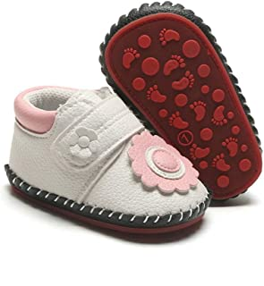 E-FAK Baby Shoes Boys Girls Infant Sneakers Non-Slip Rubber Sole Toddler Crib First Walker Shoes