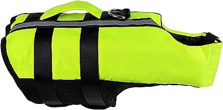 Saymequeen Pet Inflatable Life Vest Fluorescent Green Adjustable Cat Dog Life Jackets Float Vest