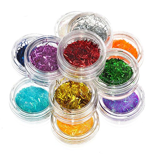 SHANY Nail Glitter Set - 12 Assorted Colors - Set2