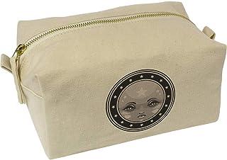 'Full Moon Emblem' Canvas Wash Bag / Makeup Case (CS00019597)