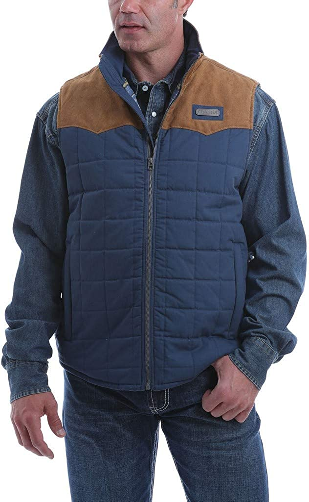 Cinch Men's Blue Quilted Polyfill Puffer Vest