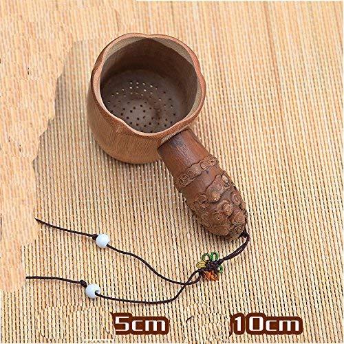 Tasse à thé élégante Filtres à thé Disporopsis en bambou naturel Filtre à thé Filtre à thé Filtre à thé Cuillère Filtres en bambou, Style 2 (Couleur : Style 4, Taille : Diameter:5cm/long:10cm)