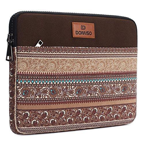 DOMISO 12.5-13 Zoll Laptop Sleeve Hülle Tasche Canvas Fabric Flower Pattern Abdeckung für 13