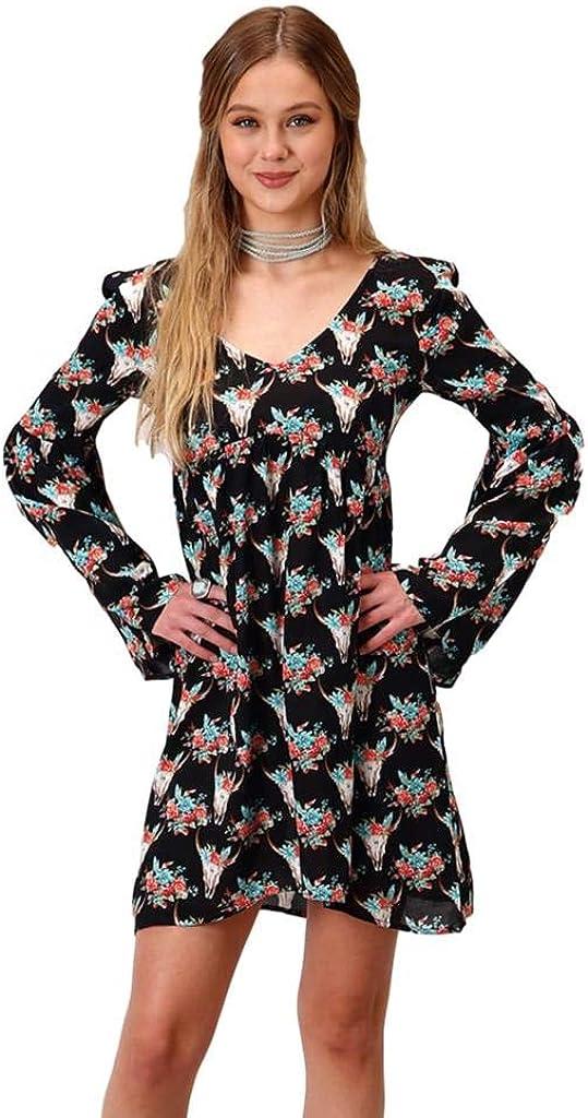 Roper Western Dress Womens L/S Button Black 03-057-0590-6078 BL