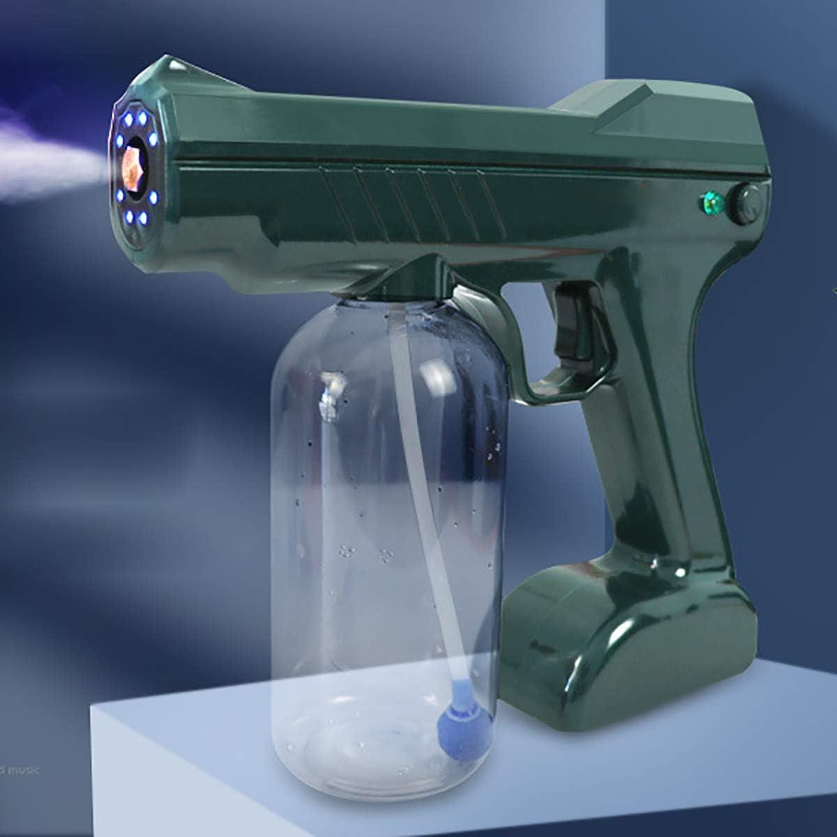 FIZZENN Aerosol Azul Claro Nano atomización Pistola eléctrica (110-240), eléctrico ULV pulverizador portátil Fogger Máquina para el Hospital Escuela de Coches, Desinfección, humidificación y Limpieza