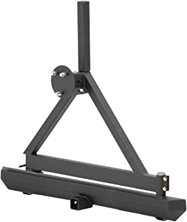 Smittybilt 76651 SRC Classic Rear Rock Bumper with Swing Out Tire Carrier - Kit