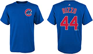 Majestic Anthony Rizzo Youth Chicago Cubs Blue Name and Number Jersey T-Shirt
