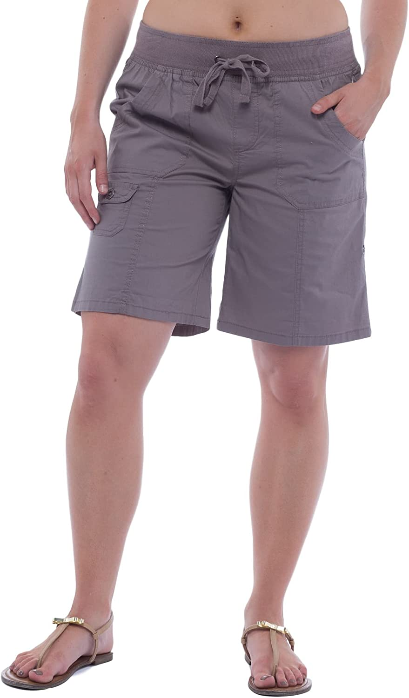 Alki'i Women's Casual Bermuda Shorts with Rollup Leg 2140