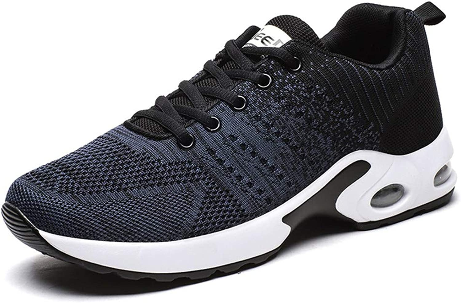 Lxmhz Mens Mesh Trainers Athletic Walking Gym shoes Sport Run Air Cushion Tennis shoes Lightweight Walking Sneakers Breathable