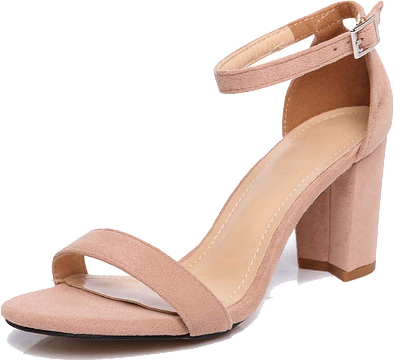 Perilla fire Chunky Heel Women Ankle Strap Gladiator Sandals Women's Summer shoes Fashion Female Sandilas