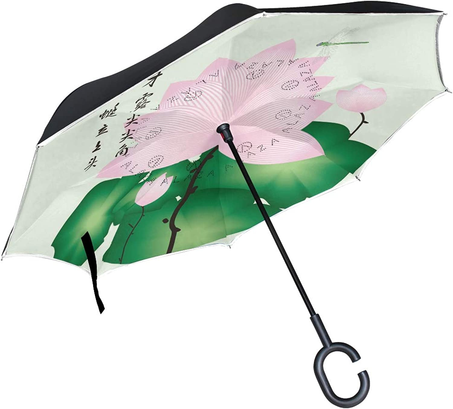 1ed8634488d9 bluee Dragonfly Ingreened Umbrella Compact Windproof Double Layer ...