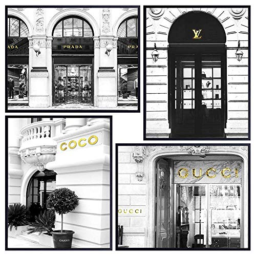 Glam Fashion Design Wall Decor - High Fashion Wall Art Room Decorations - Chic Luxury Couture Poster Set - Gift for Women, Fashionista, Designer - 8x10 Pictures