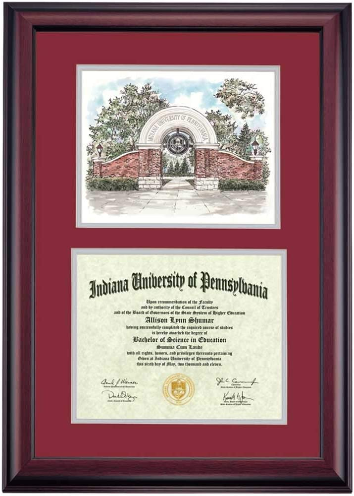 OCM Columbus Mall DiplomaDisplay Sale SALE% OFF Premier Frame for University of Penns Indiana